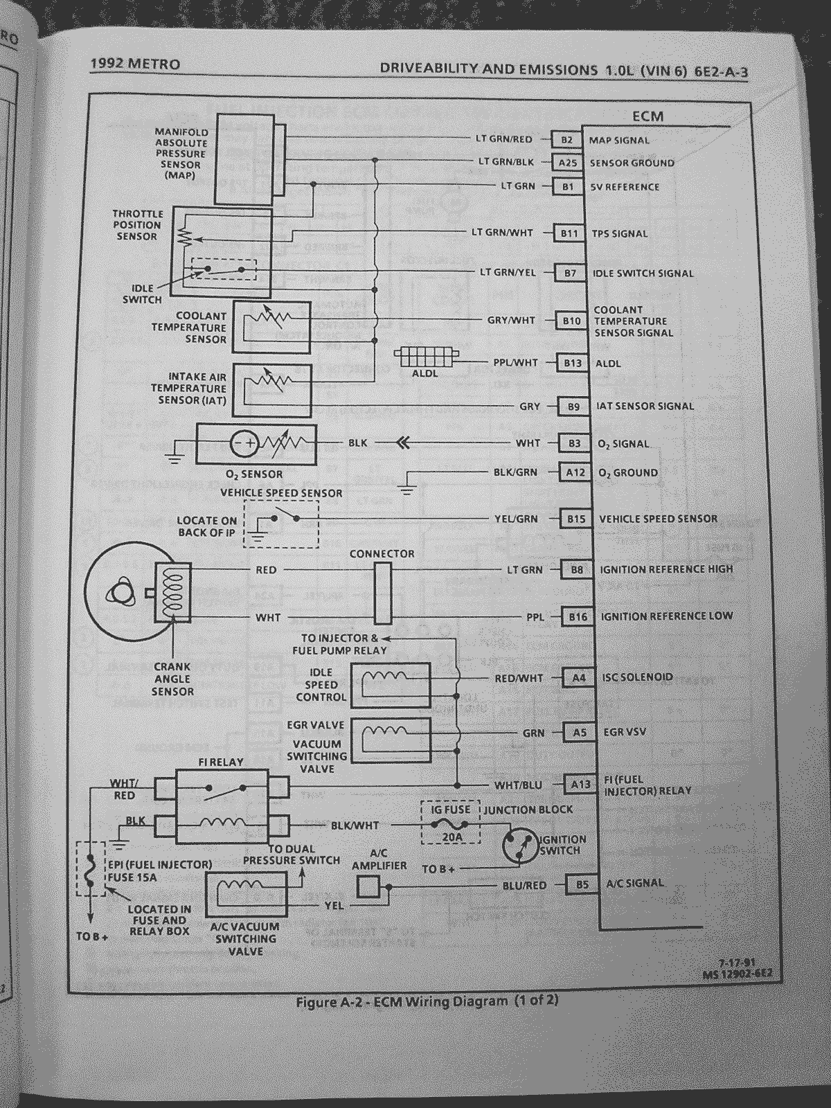 geo metro and suzuki swift wiring diagrams com 92 94 metro 3 cylinder ecu pinouts